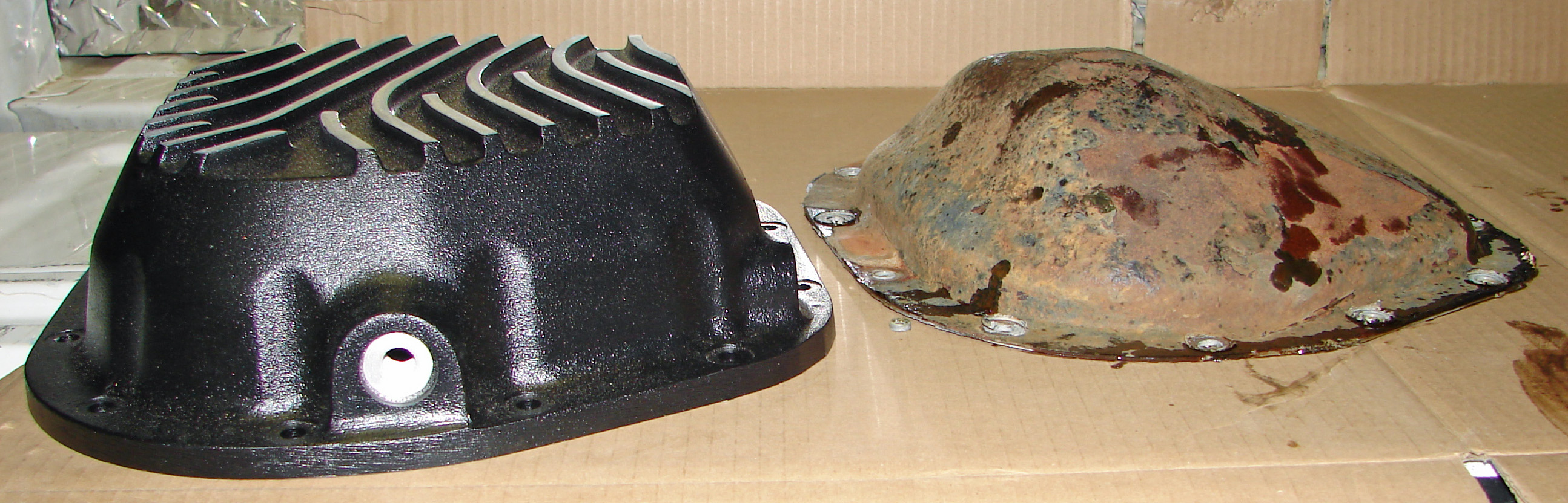 PML transmission pan and differential covers can add years of life to your truck when pulling a ...