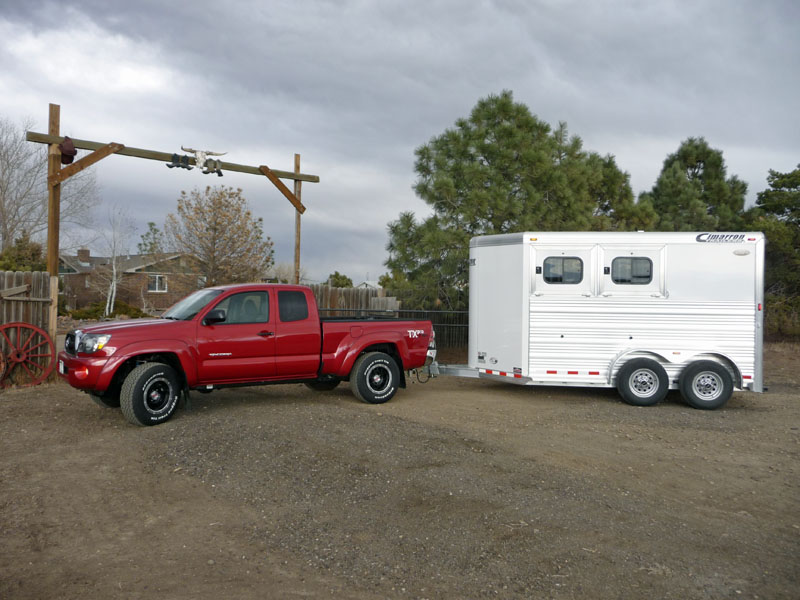 toyota tundra and tacoma towing a cimarron horse trailer. Black Bedroom Furniture Sets. Home Design Ideas